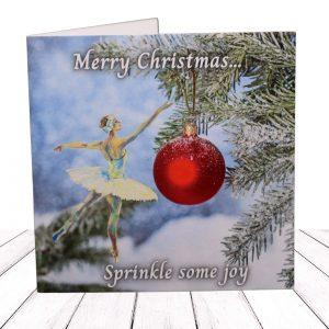 Festive Christmas Ballerina Card