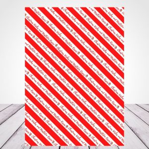 Christmas Wrapping Paper Red Robin Candy Stripe
